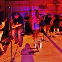 live band performing at night