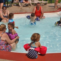 kids swimming at the children's pool