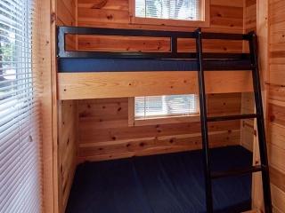 bunk beds inside cabin