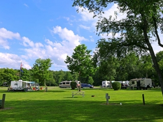 view of campsite with campers