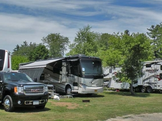 campers parked in campground