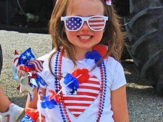 girl celebrating the fourth of July